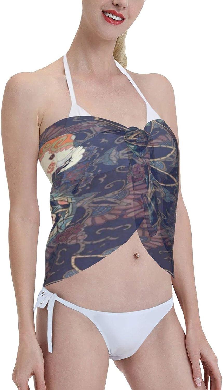 IPOXK Women Short Sarongs Beach Wrap,Women's Sheer Bikini Wraps Chiffon Cover Ups for Swimwear