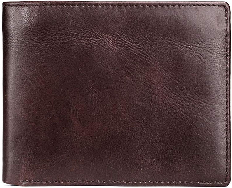 Xuanbao Herrenbrieftaschen Kunstleder Geldbörse Herren Casual Retro Short Oil Wax Wallet Multi-Card Position Krotitkarten-Geldbörse B07PYT75YR