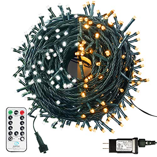 MZD8391 200 LED String Lights, 82FT LED Color Changing White Warm White Fairy Lights, Dimmable...