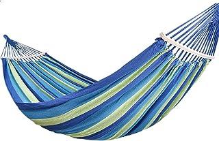 LULUD Camping Hammock - Portable Swing Bed - Garden, Beach, Hiking - 200cmx150cm - Blue