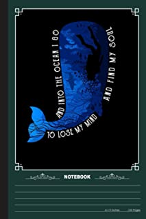To Lose My Mind And Find My Soul Notebook: A Notebook, Journal Or Diary For Suba Diving Lover - 6 x 9 inches, College Rule...