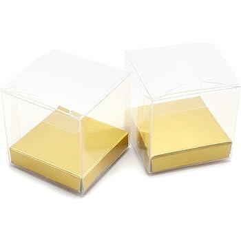 20 x Hochzeit Fest Geburt Transparent Geschenkverpackung Geschenkbox Tischdeko