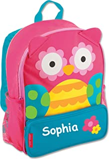 Stephen Joseph Personalized Little Girls' Sidekick Owl Backpack With Name