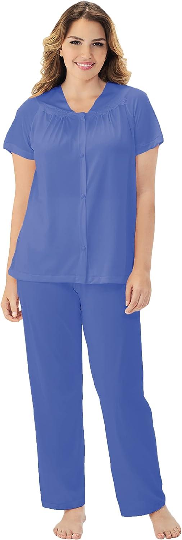 Exquisite Form Women's Vintage Short Sleeve Pajama Set, Plus-Size #90807