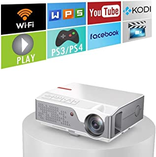 """6000 Lumens 1080 Native Projector, Full HD Android Projector with WiFi Bluetooth, 300"""" Max Image Size, with HDMI USB VGA A..."""