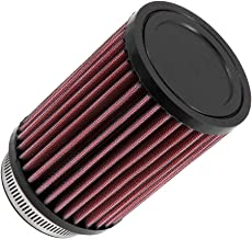 K&N Universal Clamp-On Engine Air Filter: Washable and Reusable: Round Straight; 2.5 in (64 mm) Flange ID; 6 in (152 mm) Height; 3.5 in (89 mm) Base; 3.5 in (89 mm) Top , RD-0720