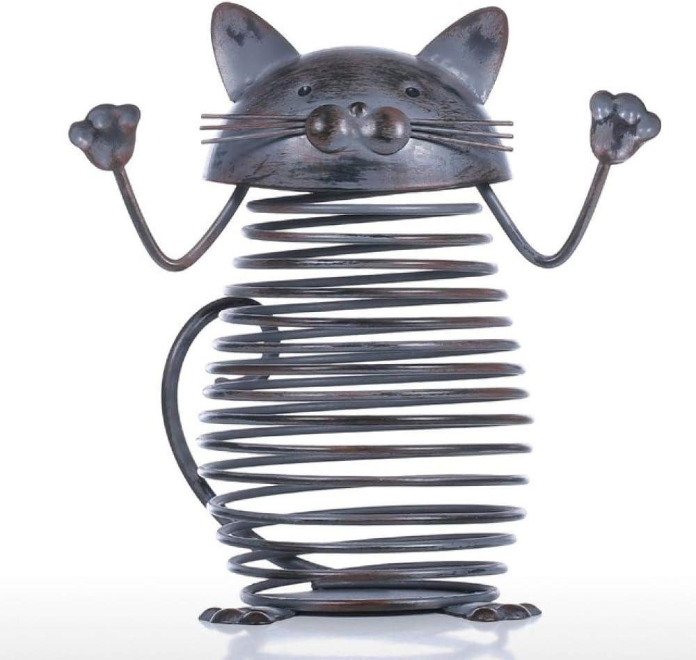 Max 60% OFF SUPERHUA Spring Cat Cork service Container Iron Bottle Sculpture Jar