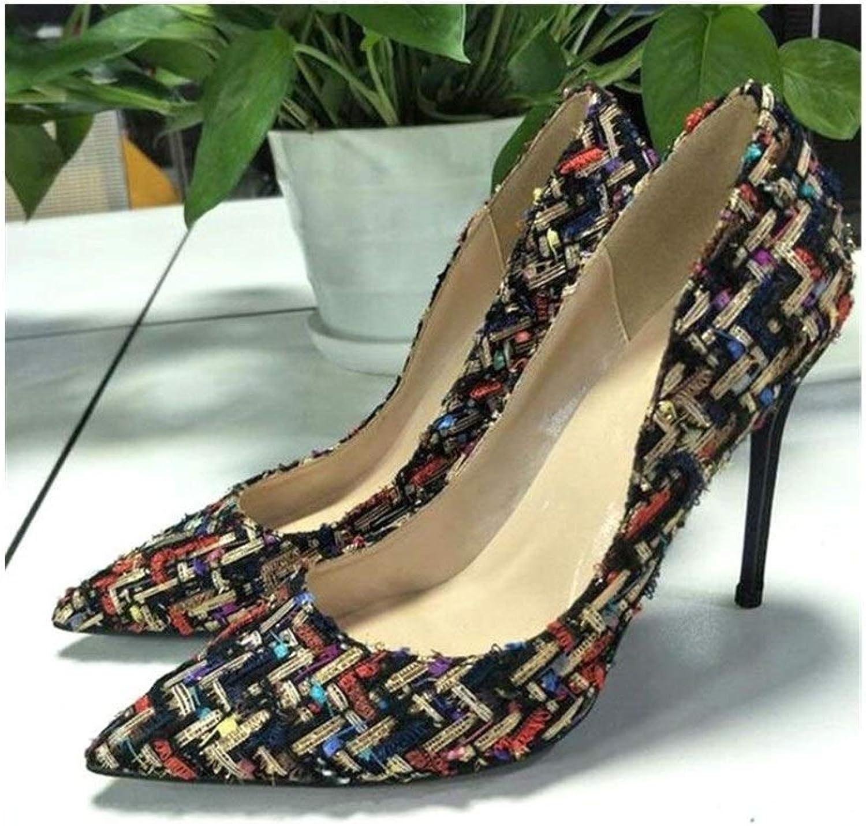 ZerenQ D'Orsay Pumps for Women High Stiletto Heels colorful Velvet Pointed Toe Slip on Dress shoes for Ladies Durable (color   Black 6cm Heel, Size   9.5 M US)