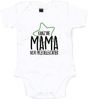 Kleckerliese Baby Body Sprüche Jungen Mädchen Kurzarm mit Motiv Ganz die Mama nur Pflegeleichter