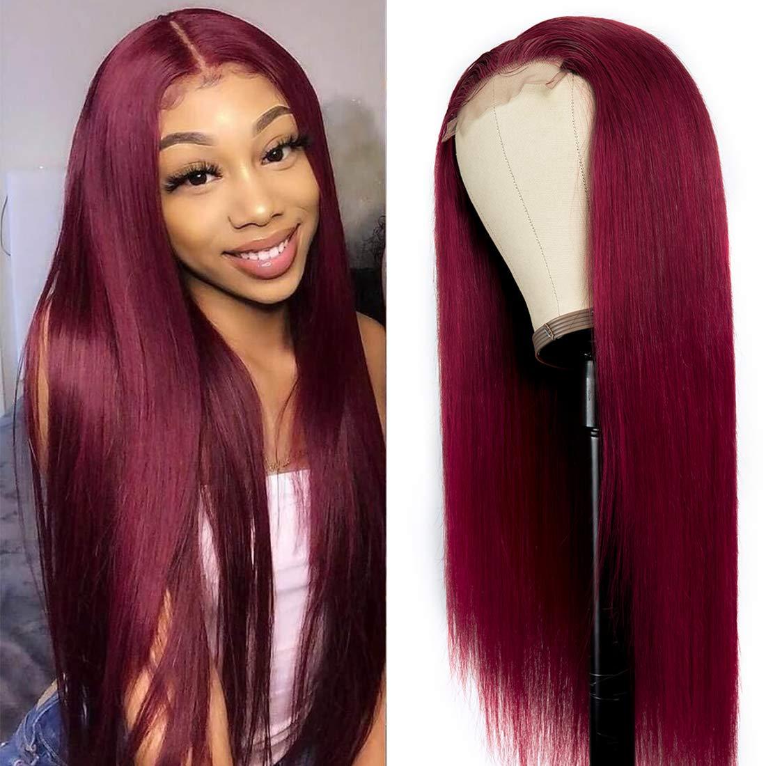 Washington Mall Nadula Hair Bombing free shipping 10A 99J Straight T Wigs Part Human Closure Lace