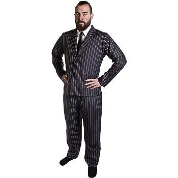 Deluxe Bianco Cravatta Gangster anni/'20 adulto uomo Smiffys Costume Accessorio