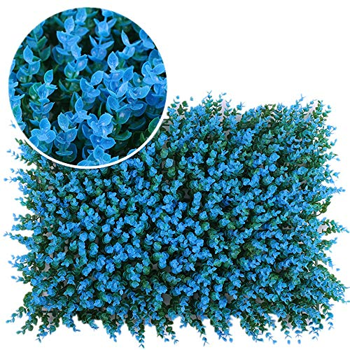 DLSMB Artificial Hedges Panels Artificial Boxwood Panels Hedges Privacy Fence Screening UV Protection Decorative Outdoor Garden Wedding Office Area 12 Pieces for Home Garden Backyard Wedding
