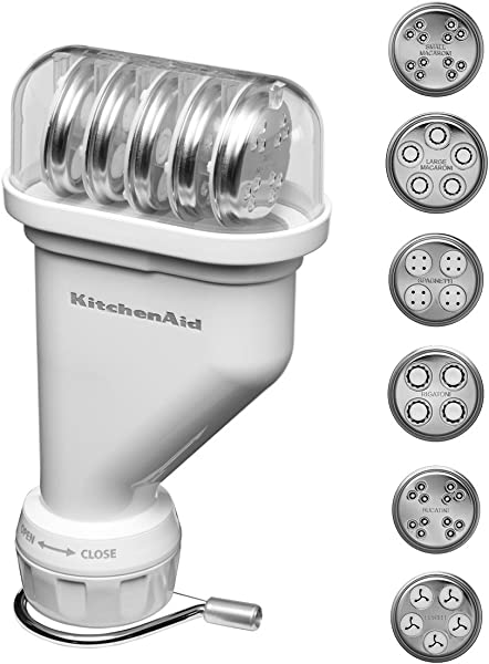 KitchenAid KPEXTA Stand Mixer Pasta Extruder Attachment With 6 Plates And Housing