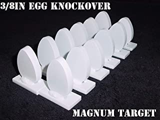 Steel Shooting Targets - 12 New Egg Knockover - Action Pistol & Rifle Silhouette - 3/8