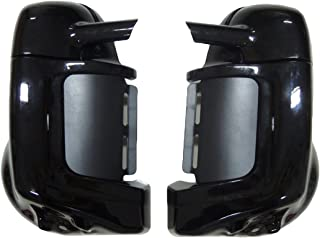 Lower Vented Leg Fairing Glove Box for 1983-2013 Touring Road King Street Glide Electra Glide Ultra-Classic Road Glide Black