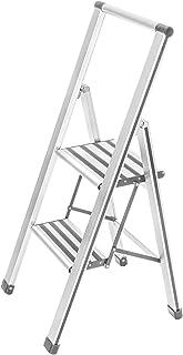 Wenko Escalera Plegable con 2 peldaños, de Aluminio, Color