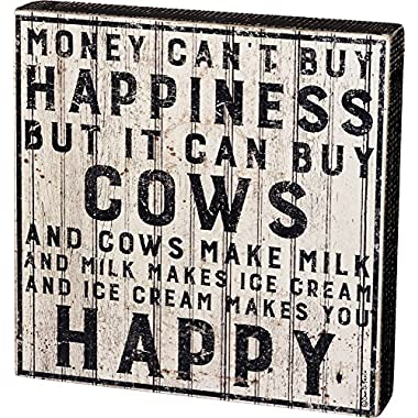 Primitives by Kathy Buy Cows Box Sign