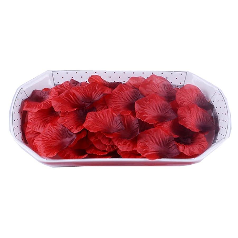 引き潮メールを書く音節人工花びらの結婚式の装飾品は、3000の花びらのセットをバラ