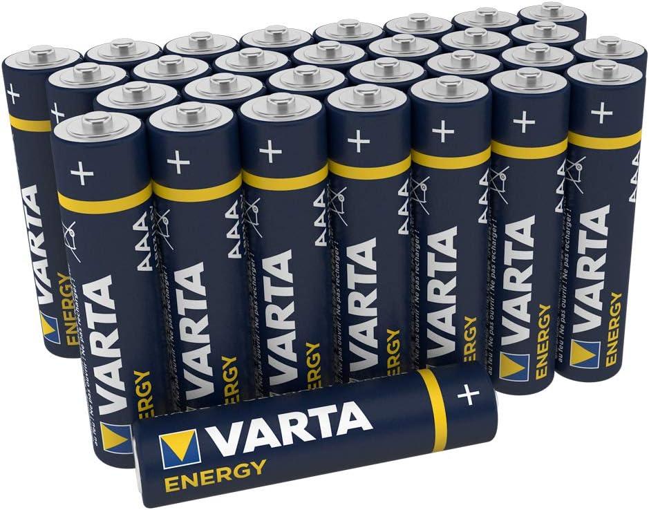Varta Pila Energy AAA Micro LR03 (paquete de 30 unidades), pila alcalina –