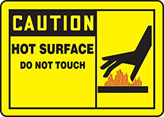 hot surface safety sign
