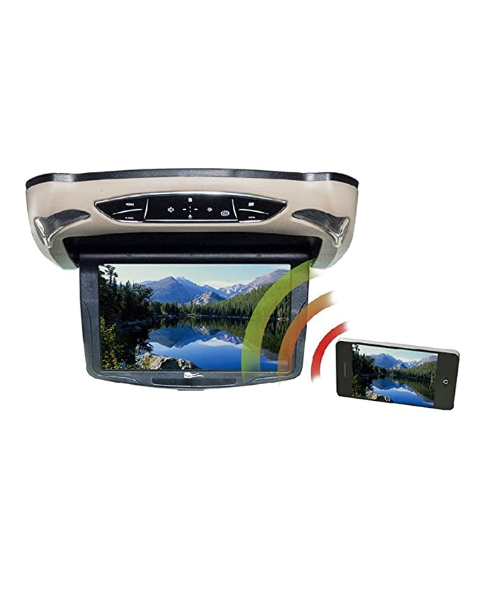 CONCEPT CFD-135M Ceiling-Mount TFT LCD Video Monitor with Miracast(R), IR & FM Transmitters & Interchangeable Covers (13