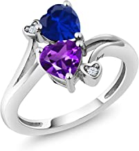 blue and purple ring