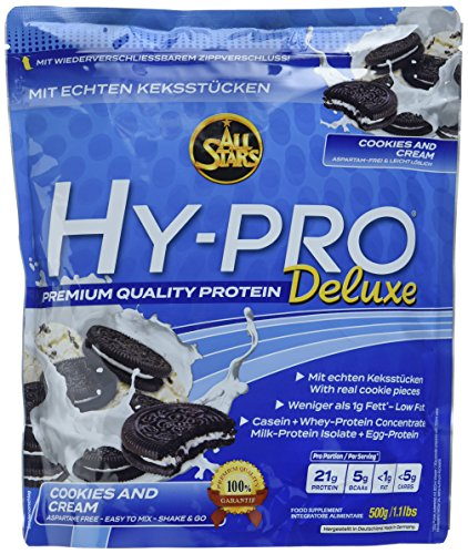 All Stars Hy-Pro Deluxe, Cookies and Creamt, 1er Pack (1 x 500 g)