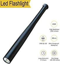 Tactical Flashlight Best Torch, Cool Black Brightest Led Flashlight, 2000 Lumens, 3 Light Modes for Camping, Hiking, Inspection, Work, Repair and Emergency Use