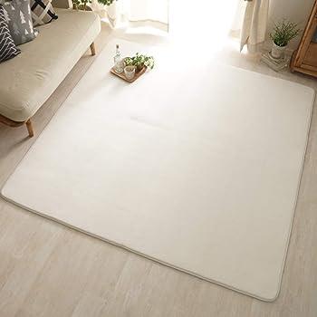 グラムスタイル ラグ ラグマット カーペット 洗える 洗濯機 190x190cm 2畳 ホワイト 白 (スーパームート スノー)