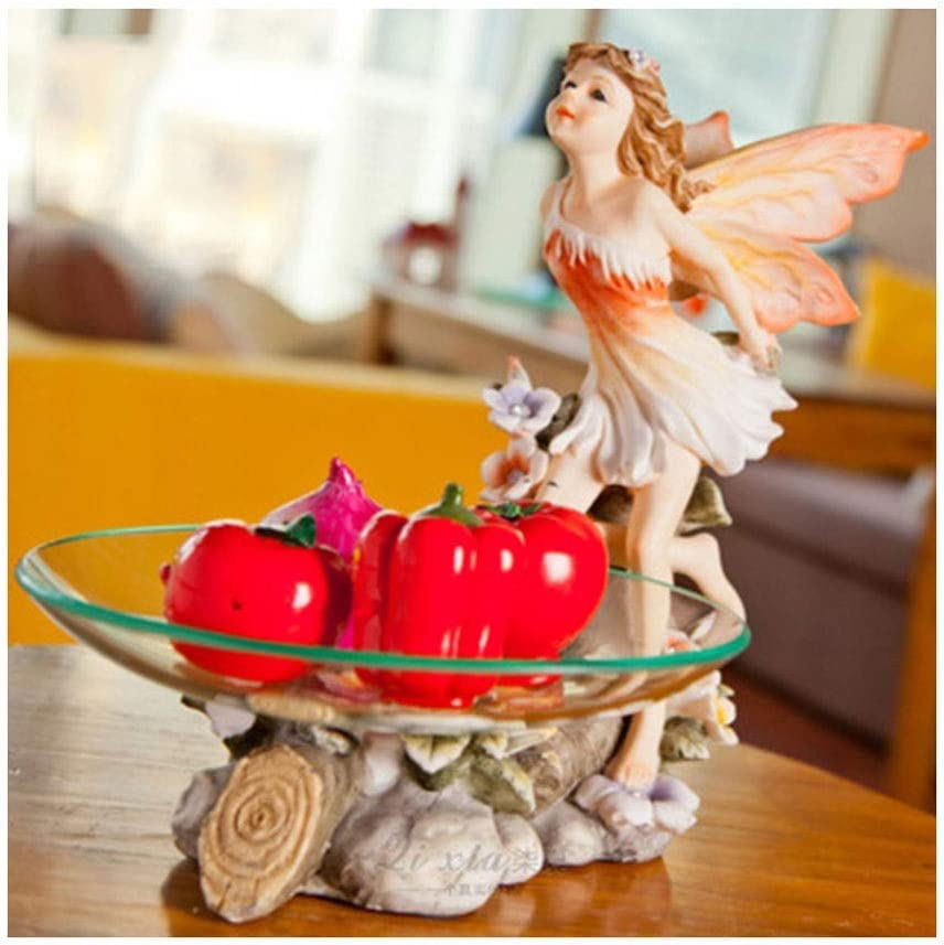 WHEEJE Max 72% OFF Snack Fruit Plate Large-scale sale Angel Crafts European Resin Retro Frui