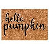 Doormat Natural Coco Coir Door Mat Hello Pumpkin (24' x 16')