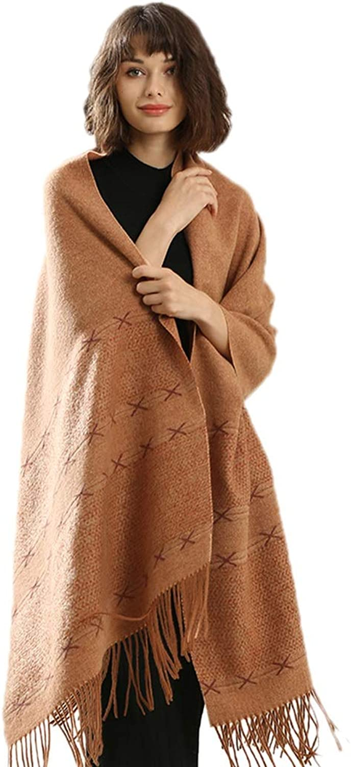 Cold Weather Scarves Scarf Ladies Shawl Ladies Scarf Tassel Ms. Scarf Warm Wild Scarf Yellow Brown Ms. Wrapped Shawl Thick Winter Wool Scarf Birthday Gift New Year Gift Wraps