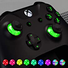 eXtremeRate Multi-Colors Luminated D-pad Thumbsticks Start Back ABXY Buttons (DTF) LED Kit for Xbox One Standard, Xbox One S X Controller 7 Colors 9 Modes Button Control with Classical Symbols Buttons