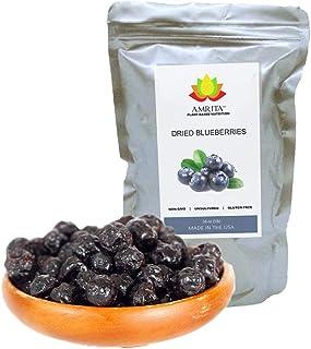 Dried Premium Blueberries, 1 lb - Gluten-Free, Dairy-Free, Soy-Free, Nut-free, Vegan Snack.