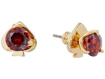 Kate Spade New York Brilliant Statements Mini Trio Prong Studs Earrings (Ruby) Earring