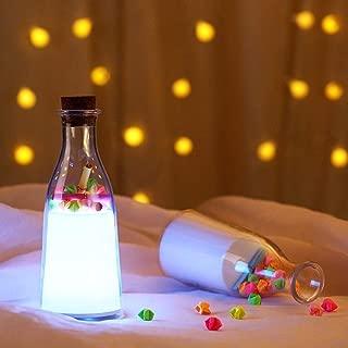 Zenly Mensaje Dormir Light Light Drift Bottle Regalo del día Deseando luz Botella de luz Colorida de la Noche Luz Ambiente Valentine (* D10cm H18cm)