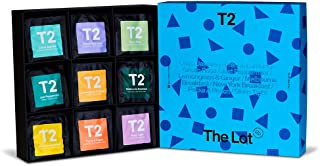 T2 Tea The Lot Giftpack - 90 Individually Sealed Tea Bags of 9 Black, Green, Fruit & Herbal Teas, 190 g