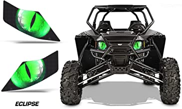 AMR Racing UTV Headlight Eye Graphic Decal Cover for Arctic Cat Wildcat - Eclipse Green