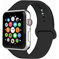 Sport Band Compatible with Watch Band 38MM 42MM 40MM 44MM, Soft Silicone Replacement Sport Strap...