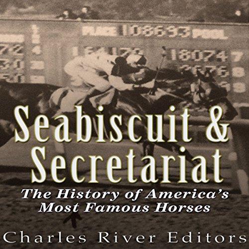 Seabiscuit and Secretariat audiobook cover art