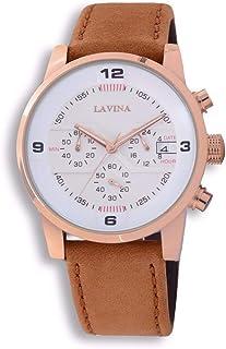 لافينا ساعة رسمية رجال انالوج بعقارب جلد - 8890