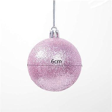 MountRise-Christmas 72pcs Boules de Noël, 60mm Ornement Décoration incassables Boules, Idéal pour Le Festival décorations de