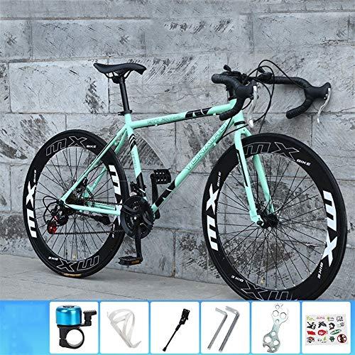 LLAN 26 Pulgadas de Bicicletas de montaña, Bicicletas de ciclocross, Marco de Acero al Carbono, Grande Suspensión Completa de Bicicletas de montaña, Bicicleta de Carreras Cruz for Mujeres y Hombres