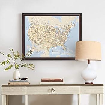 Personalized Us Traveler Map Amazon.com: Personalized U.S. Traveler Map: Posters & Prints