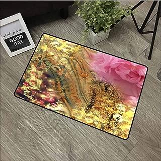 Linhomedecor Universal Door mat Door mat Floor Decoration W35.4 x L47.2 Inch,