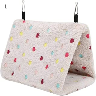 Winter Warm Bird Bed House Safety Pet Bird Parrot Cage Tent Bed Hanging Bed,Parrot Hammock Small Animals Hut Cave Sleeping...