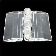 RETYLY 6X Transparante Acryl Plastic Scharnieren Doos Piano Acryl Scharnier 45×38mm