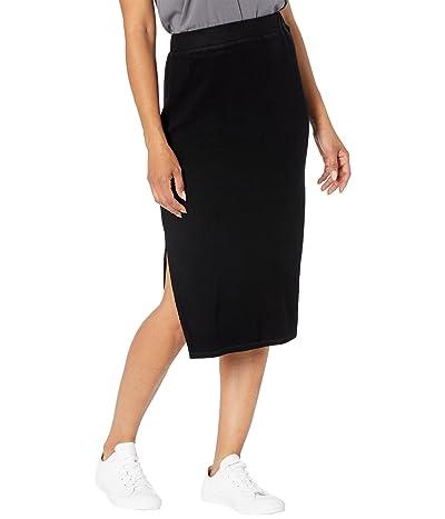 Mod-o-doc Light Brushed Rib Midi Length Pencil Skirt