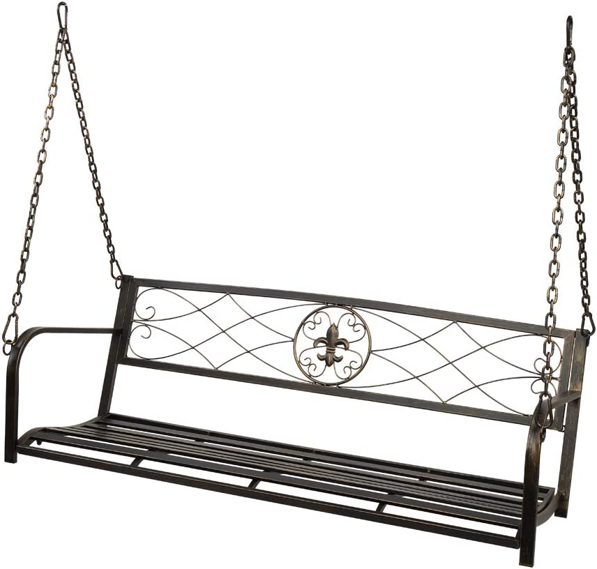 Porch Swing Steel Metal Patio Chair All for Albuquerque Mall Ranking TOP14 Outdoors
