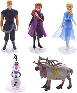 CYSJ Frozen Cake Toppers 5pcs Frozen Figurines Décoration de gâteau d'anniversaire de Dessin animé Mini Jouets pour Enfant...